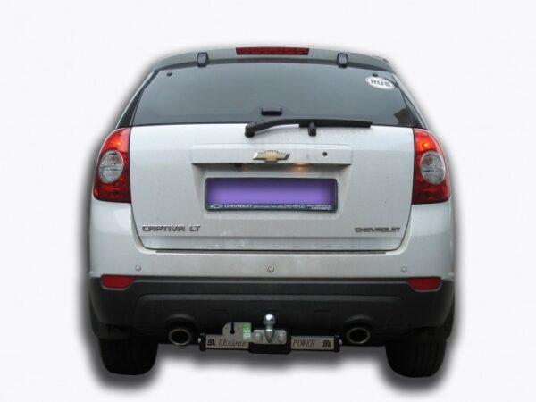 Фаркоп для Chevrolet Captiva 2006-... с нержавеющей пластиной - Фото