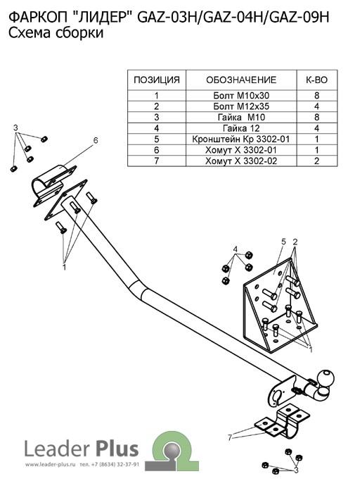 Фаркоп для ГАЗ 2705