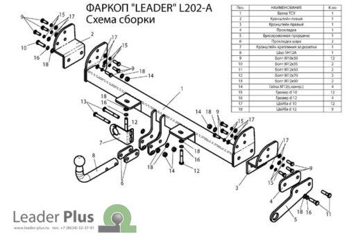 Фаркоп для Land Rover Freelander 1 LN 1998-2006