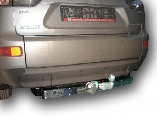 Фаркоп для Mitsubishi Outlander XL CW0 2007-2012 с нержавеющей пластиной - Фото