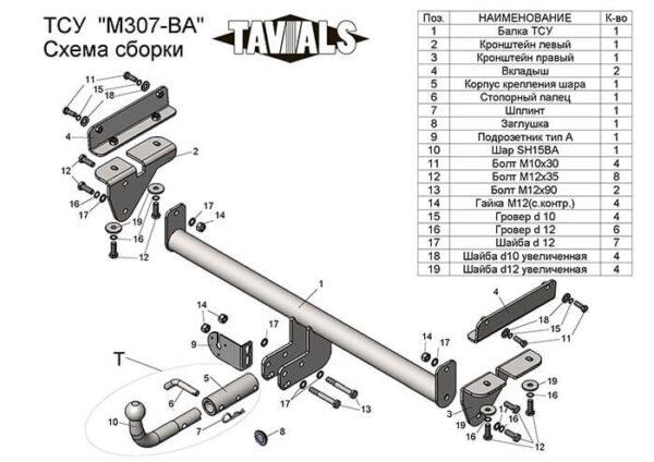 фаркоп для мазда сх-7