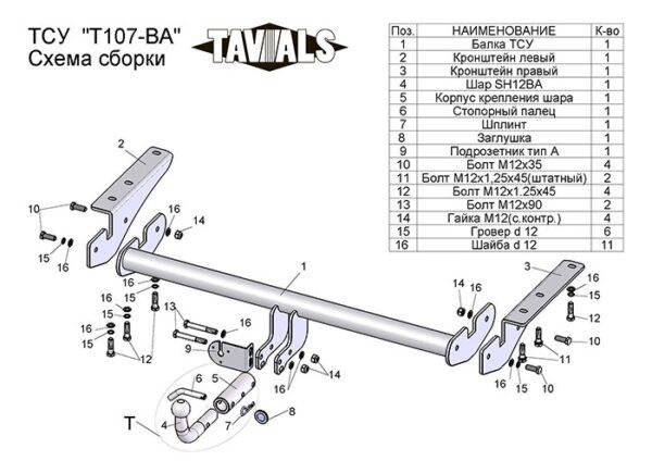 Фаркоп для TOYOTA RAV 4 A2, XA3 2006-2012 c быстросъемным шаром - Фото