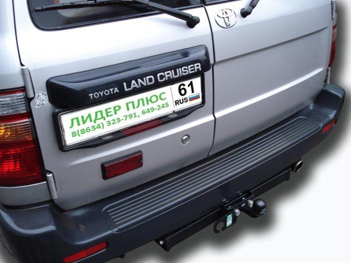 Фаркоп для TOYOTA Land Cruiser 105 1998 с нержавеющей пластиной - Фото