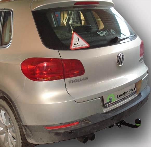 Фаркоп для Volkswagen Tiguan 2007-..., Jetta 2010-..., Skoda Yeti 2009-..., Kodiaq 2016-... - Фото