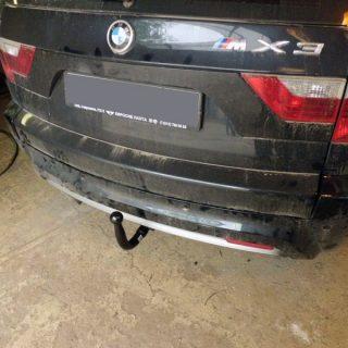 Фаркоп оцинкованный BMW X3 2010-2017, BMW X4 2014-2018, кроме моделей с M-пакетом условно-съемное крепление шара