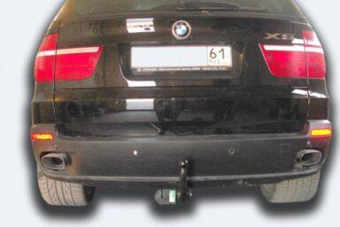 Фаркоп оцинкованный BMW X5 2007-2013, 2013-2018, BMW X6 2014-2019, кроме моделей с M-пакетом условно-съемное крепление шара