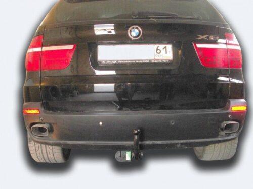 Фаркоп оцинкованный BMW X5 2007-2013, 2013-2018, BMW X6 2014-2019, кроме моделей с M-пакетом быстросъемное крепление шара - Фото