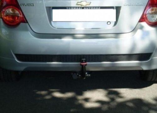 Фаркоп оцинкованный Chevrolet Aveo хетчбек 2011- быстросъемное крепление шара - Фото