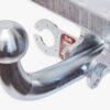 Фаркоп оцинкованный Chevrolet Lacetti хетчбек 5 дверей 2004-2013, Daewoo Nubira хетчбек 5 дверей 2003- быстросъемное крепление шара