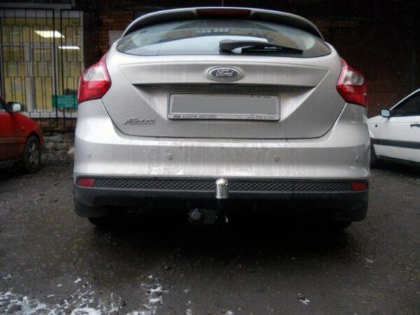 Фаркоп оцинкованный Ford Focus III хетчбек 2011-2019, Ford Focus II хетчбек 3/5 дверей 2004-2011, Ford C-MAX 2003-2011, 2011- условно-съемное крепление шара - Фото
