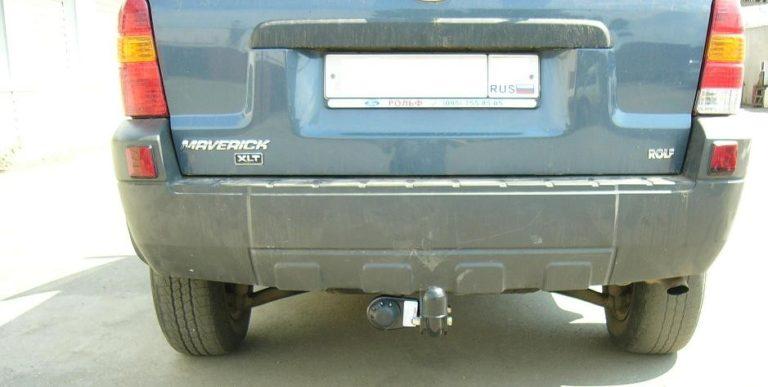 Фаркоп оцинкованный Ford Maverick 1993-2000, Nissan Terrano 1993-2002 условно-съемное крепление шара - Фото
