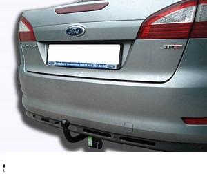 Фаркоп оцинкованный Ford Mondeo седан/хетчбек 2000-2006 условно-съемное крепление шара - Фото