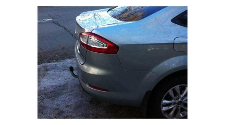 Фаркоп оцинкованный Ford Mondeo седан/лифтбек/универсал 2014- быстросъемное крепление шара - Фото