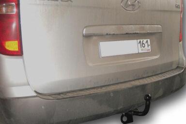 Фаркоп оцинкованный Hyundai Starex 1997-2008 6 и 9 местные условно-съемное крепление шара