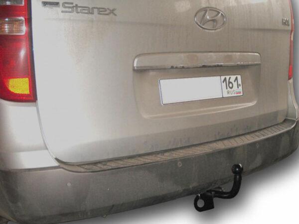 Фаркоп оцинкованный Hyundai Starex 1997-2008 6 и 9 местные условно-съемное крепление шара - Фото