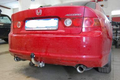Фаркоп оцинкованный Honda Accord седан CL7 2003-2008 быстросъемное крепление шара