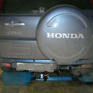 Фаркоп оцинкованный Honda CR-V 1997-2002 условно-съемное крепление шара