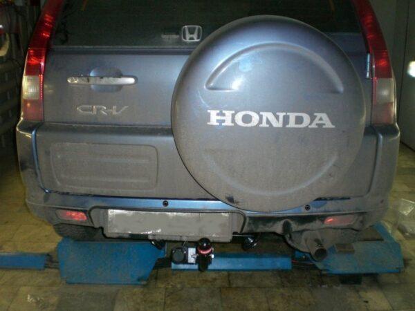Фаркоп оцинкованный Honda CR-V 1997-2002 условно-съемное крепление шара - Фото