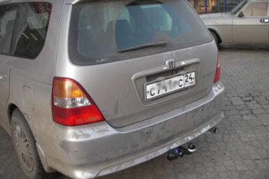 Фаркоп оцинкованный Honda Odyssey RA1-RA5 1994-1999, кроме авто с волнистым бампером, Honda Shuttle 1994-1999 быстросъемное крепление шара