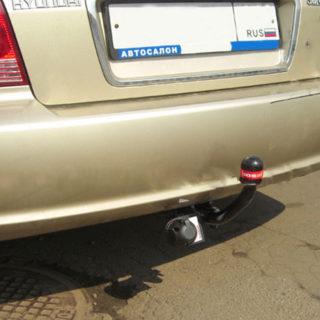 Фаркоп оцинкованный Hyundai Sonata EF 1999-2005 условно-съемное крепление шара