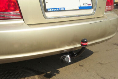Фаркоп оцинкованный Hyundai Sonata NF 2005-2011 условно-съемное крепление шара