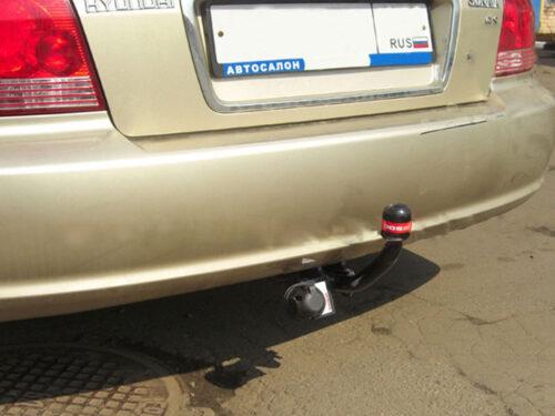 Фаркоп оцинкованный Hyundai Sonata NF 2005-2011 быстросъемное крепление шара - Фото