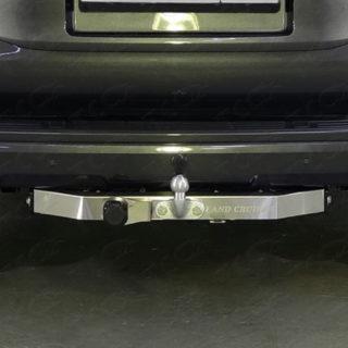 Фаркоп оцинкованный Land Rover Discovery 1990-1999 с металлическим бампером условно-съемное крепление шара