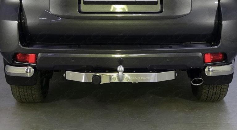 Фаркоп оцинкованный Land Rover Discovery 1990-1999 с металлическим бампером быстросъемное крепление шара - Фото