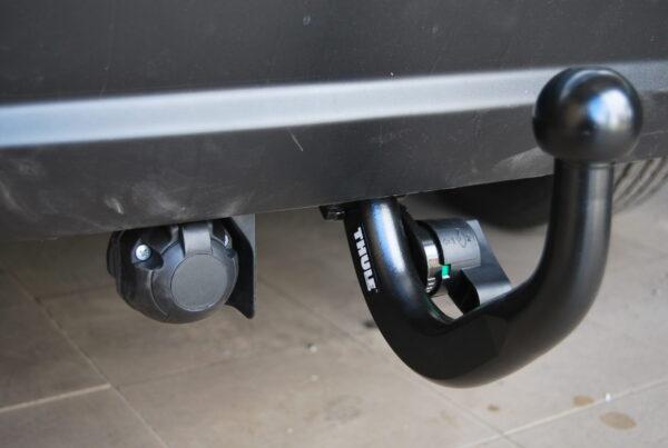 Фаркоп оцинкованный Mazda 323 BJ седан 1998-2004 условно-съемное крепление шара - Фото