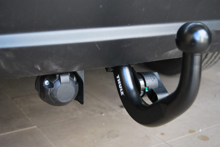 Фаркоп оцинкованный Mazda 3 хетчбек 2014-2019 быстросъемное крепление шара - Фото
