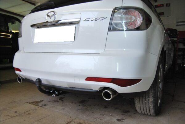 Фаркоп оцинкованный Mazda CX-7 2006-2013 условно-съемное крепление шара - Фото