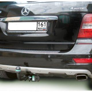 Фаркоп оцинкованный Mercedes M-Klasse W163 1998-2005 запаска под бампером условно-съемное крепление шара