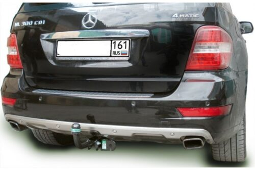 Фаркоп оцинкованный Mercedes M-Klasse W163 1998-2005 запаска под бампером условно-съемное крепление шара - Фото