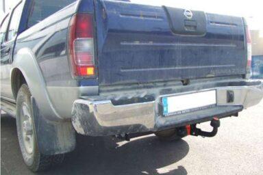 Фаркоп оцинкованный Nissan NP300 2008-2013 без подножки, Nissan Navara D22 1998-2005 условно-съемное крепление шара