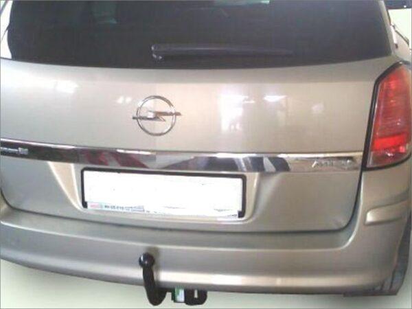 Фаркоп оцинкованный Opel Astra H хетчбек 3/5 дверей 2004-2009 условно-съемное крепление шара - Фото