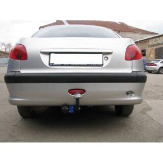 Фаркоп оцинкованный Peugeot 206 хетчбек 2003-2010 условно-съемное крепление шара