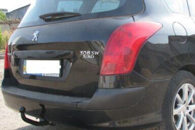 Фаркоп оцинкованный Peugeot 307 универсал 2002-2008 быстросъемное крепление шара
