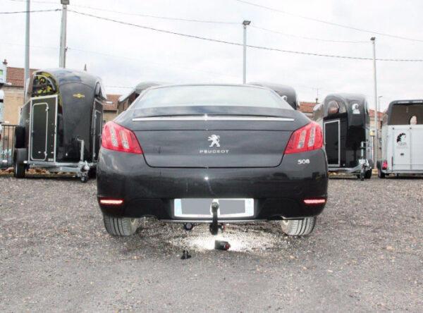 Фаркоп оцинкованный Peugeot 508 седан, кроме GT 2011-2019 быстросъемное крепление шара - Фото