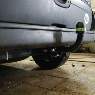Фаркоп оцинкованный Renault Kangoo 1998-2010, кроме 4x4 условно-съемное крепление шара