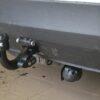 Фаркоп оцинкованный Renault Laguna I лифтбек 1994-2001 условно-съемное крепление шара