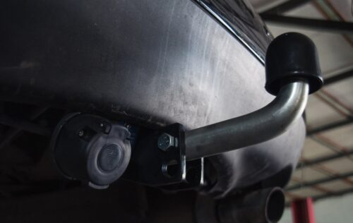 Фаркоп оцинкованный Renault Laguna универсал 2007-2015 быстросъемное крепление шара - Фото