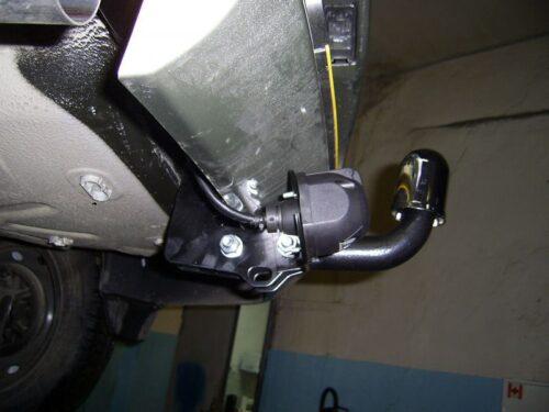 Фаркоп оцинкованный Renault Logan седан 2005-2014 условно-съемное крепление шара - Фото