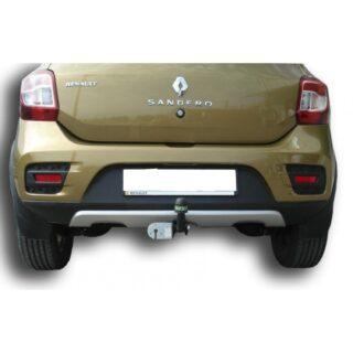Фаркоп оцинкованный Renault Sandero 2009-2014, Sandero Stepway 2010-2014 условно-съемное крепление шара