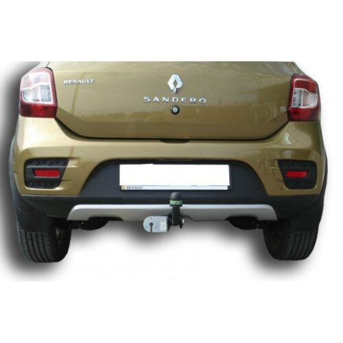 Фаркоп оцинкованный Renault Sandero 2009-2014, Sandero Stepway 2010-2014 условно-съемное крепление шара - Фото