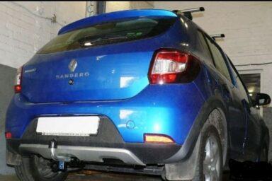 Фаркоп оцинкованный Renault Sandero 2014-, Renault Sandero Stepway 2014- условно-съемное крепление шара