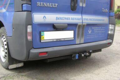 Фаркоп оцинкованный Nissan Primastar 2002-2014, Opel Vivaro 2002-2014, Renault Trafic 2002-2014 условно-съемное крепление шара
