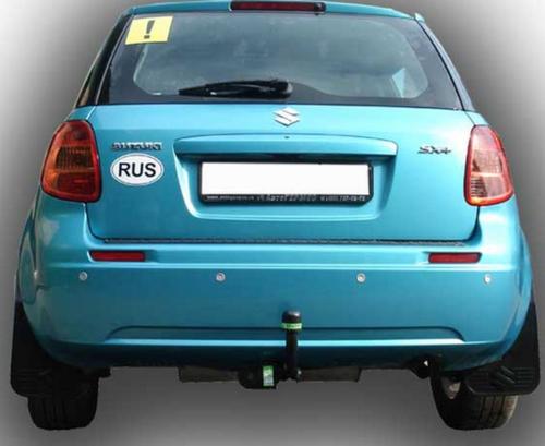 Фаркоп оцинкованный Suzuki SX4 хетчбек 5 дверей 2006-2013 2WD/4WD, FIAT Sedici 2006-2014 условно-съемное крепление шара - Фото