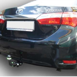 Фаркоп оцинкованный Toyota Corolla E15 седан 2007-2013 условно-съемное крепление шара