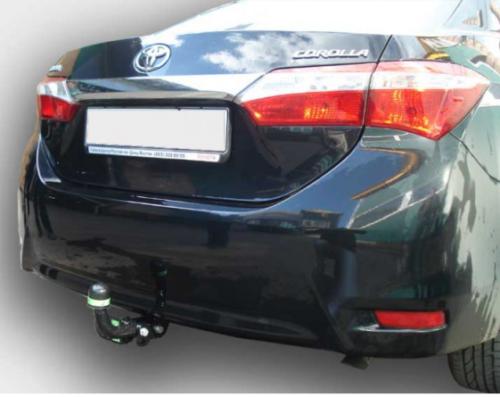 Фаркоп оцинкованный Toyota Corolla E15 седан 2007-2013 быстросъемное крепление шара - Фото