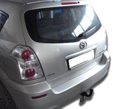 Фаркоп оцинкованный Toyota Corolla Verso 2004-2009 условно-съемное крепление шара - Фото